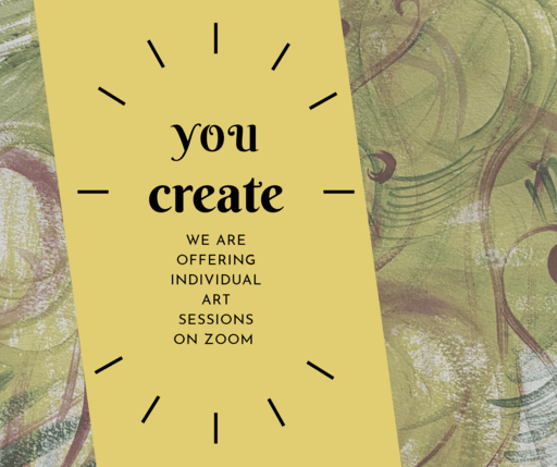 we are offering individual art sessions on Zoom video chat