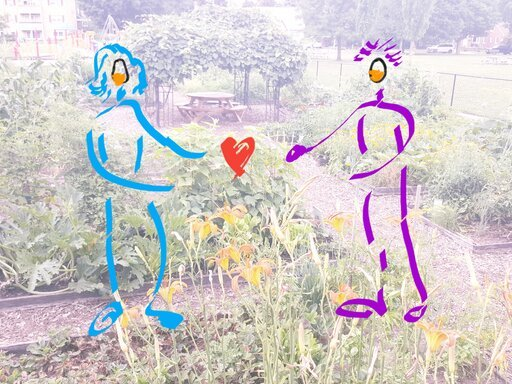 two dancing figures, who are back offering art sessions